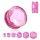 Glas Kristall Plug - pink