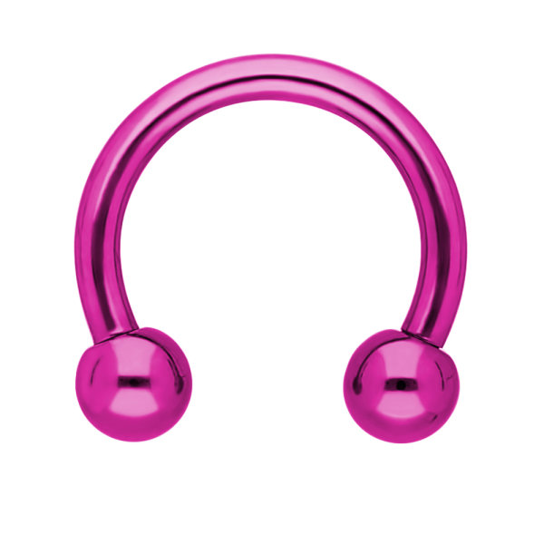 Piercing Hufeisen mit Kugel - pink