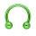 Piercing Hufeisen mit Kugel - grün