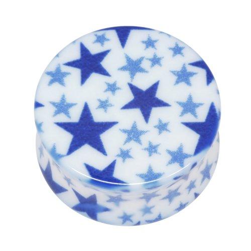 Neo Pop Plug - Sterne in blau