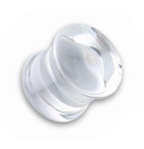 Ohr Plug - Glas - Klar