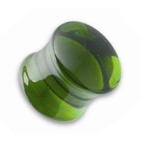 Ohr Plug - Glas - Grün