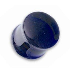 Ohr Plug - Glas - Blau