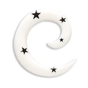 Dehner - Schnecke - Sterne - weiß