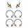 Piercing Hufeisen - Streifen - Spitzen