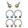 Piercing Hufeisen - Streifen - Kugeln