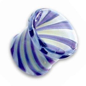 Glas Tunnel - Twist - Blau
