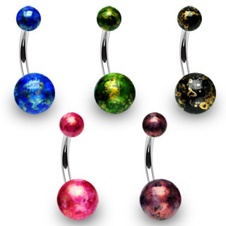 Bauchnabelpiercing - Design Color