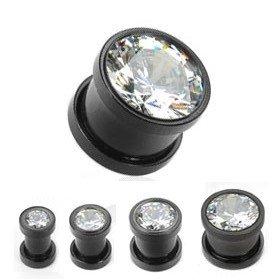 Kristall Plug - Schwarz