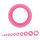 Flesh Tunnel - Silikon - Pink - dünner Rand