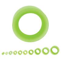 Flesh Tunnel - Silikon - Grün - dünner Rand
