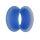 Flesh Tunnel - Silikon - Blau - dünner Rand