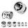 Kristall Plug - Stahlfassung - GEWINDE - Schwarz