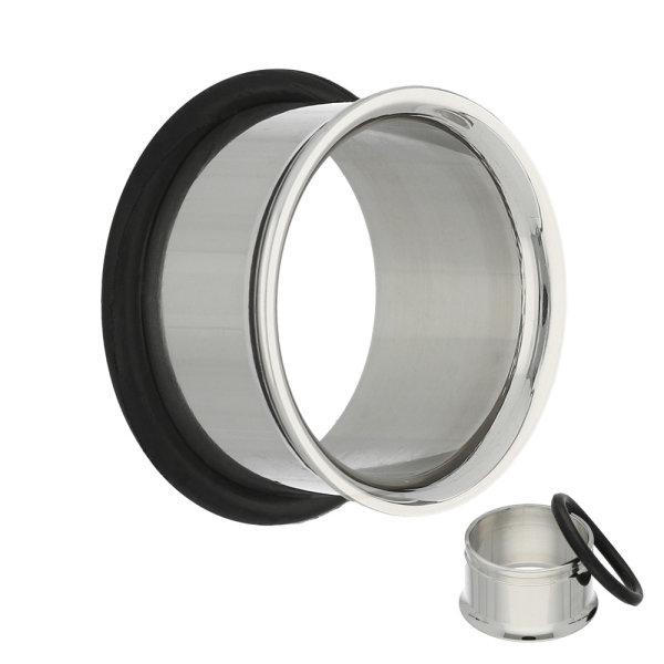 Single Flare Flesh Tunnel - Stahl - Silber