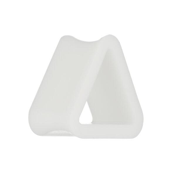 Silikon Dreieck Tunnel - Weiß