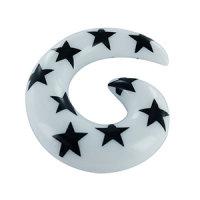 Dehner - Schnecke - Sterne - Weiß-Schwarz
