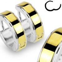 Edelstahl Creolen Ohrringe - Silber - Gold