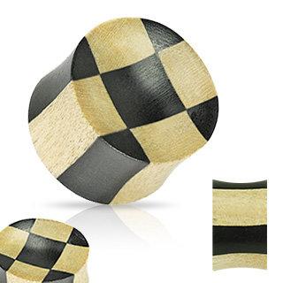 Holz Plug - Schachbrett