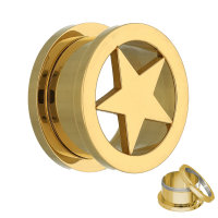 Stern Flesh Tunnel - Stahl - Gold