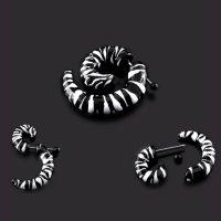Fake Dehnungssichel - Schnecke - Schwarz - Zebra