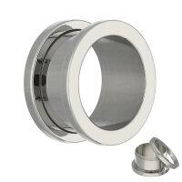 Flesh Tunnel - Stahl - Silber