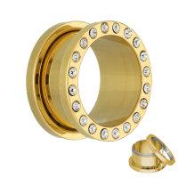 Flesh Tunnel - Stahl - Gold - Kristall