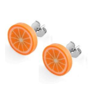 Ohrringe - Stecker - Orange