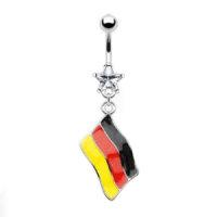 Bauchnabelpiercing - Flagge - Deutschland