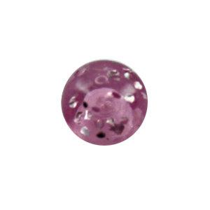 Piercing Kugel - Kunststoff - Glitter - Lila