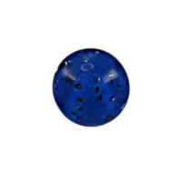 Piercing Kugel - Kunststoff - Glitter - Blau