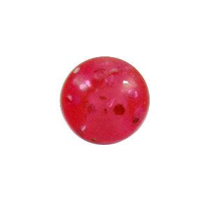 Piercing Kugel - Kunststoff - Glitter - Pink