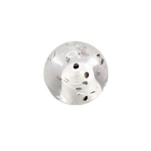 Piercing Kugel - Kunststoff - Glitter - Klar