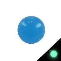 Piercing Kugel - Kunststoff - Glow in the dark - Blau
