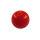 Piercing Kugel - Kunststoff - Rot