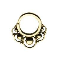 Septum Piercing - Messing - Gold - Verzierung #1