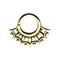Septum Piercing - Messing - Gold - Verzierung #2
