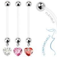 Bauchnabelpiercing - Schwangerschaft - Herz