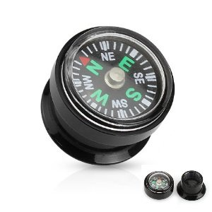 Ohr Plug - Schwarz - Kompass