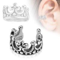 Ear Cuff - Silber - Krone