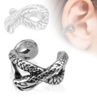 Ear Cuff - Silber - Schlange