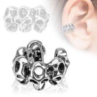 Ear Cuff - Silber - Totenköpfe