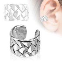 Ear Cuff - Silber - Geflochten