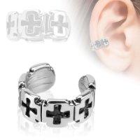 Ear Cuff - Silber - Kreuze