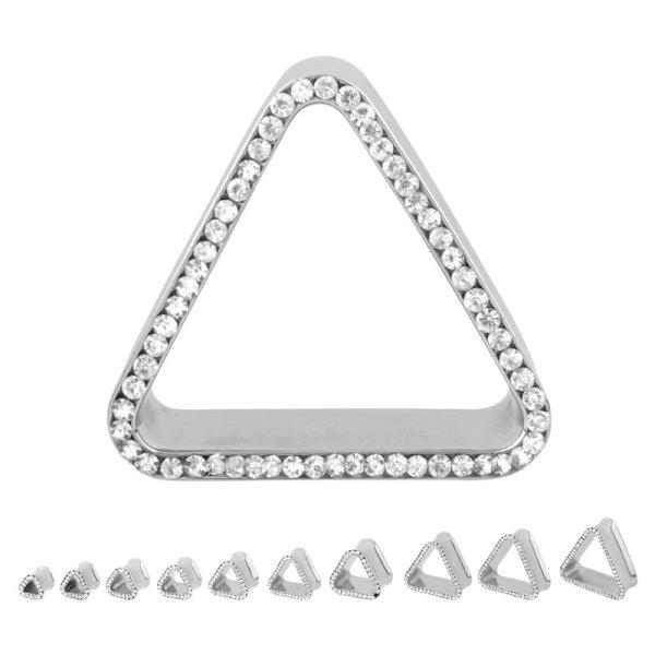 Flesh Tunnel - Stahl - Kristall - Dreieck