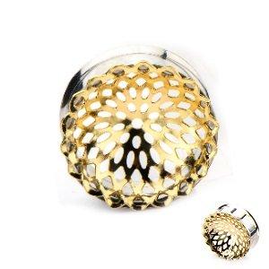 Ohr Plug - Stahl - Mandala - Gold