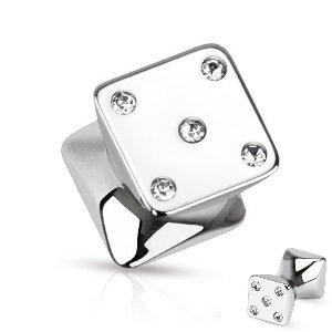 Ohr Plug - Würfel - Kristalle