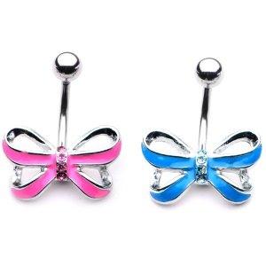 Bauchnabelpiercing - Schleife - Schmetterling