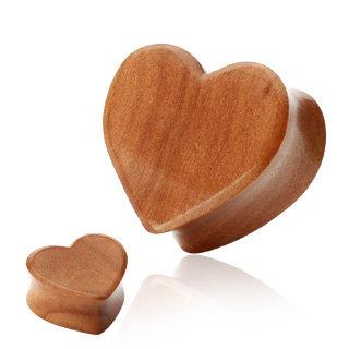 Holz Plug - Herz