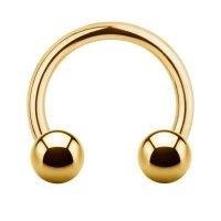 Piercing Hufeisen - Stahl - Gold