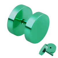 Piercing Fake Plug - Grün
